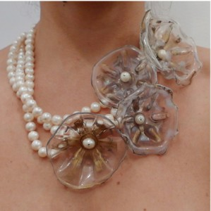 globalcoolo necklace aquamarina w/ pearls